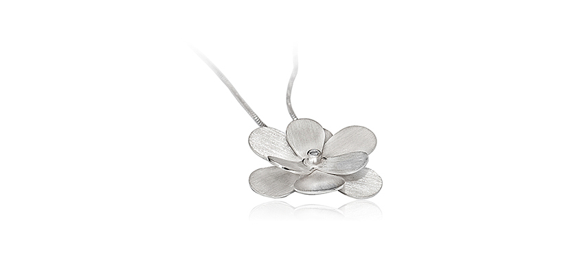 Pingente Flor Menor com Diamante 2